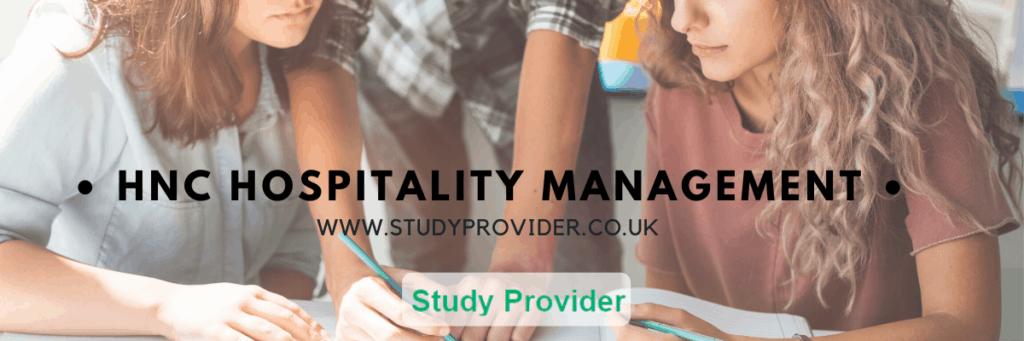 HNC Hospitality management