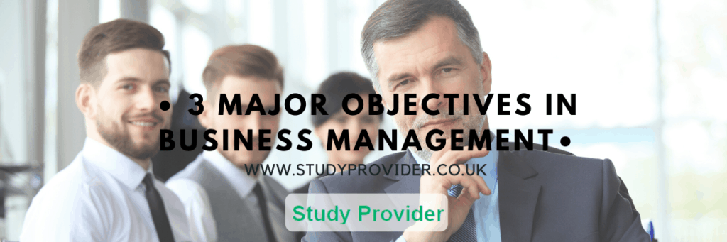 3 Major Objectives in Business Management